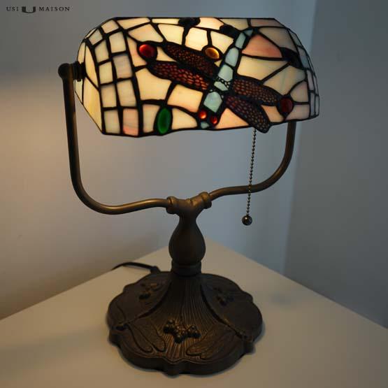 Tiffany Bankers lamp Oklahoma Dragonfly - Usi Maison