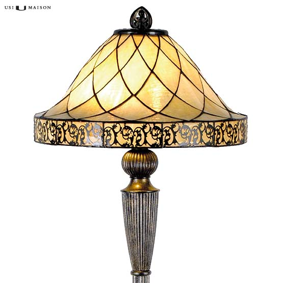 tiffany floor lamp rochelle shade
