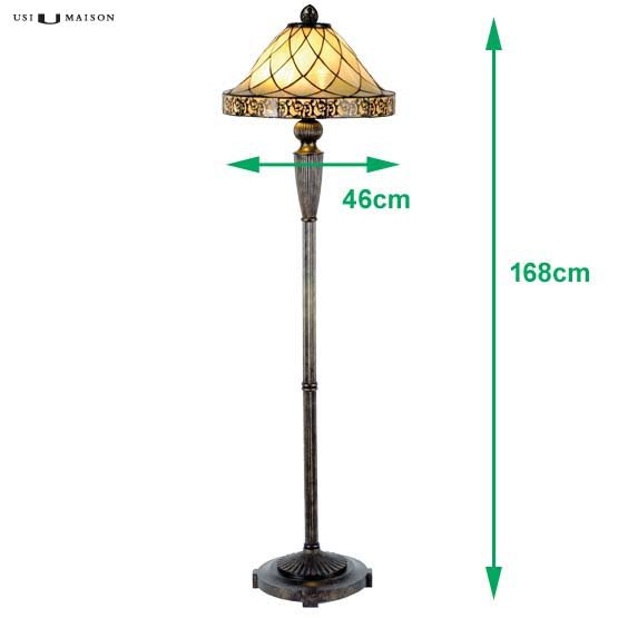 tiffany floor lamp rochelle sizes