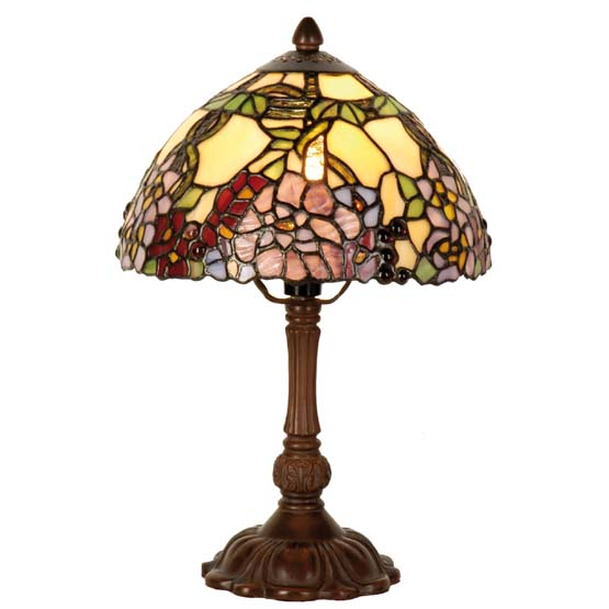 Tiffany tafellamp Athens met bloemmotief