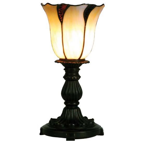 Tiffany lampje omhoog schijnend