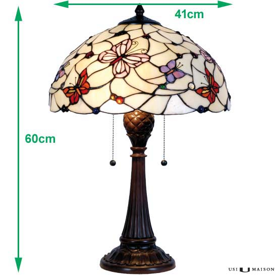tiffany lamp butterflies sizes