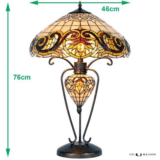 tiffany lamp indiana sizes