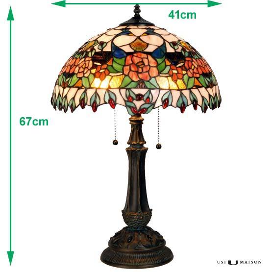 tiffany tischlampe peacock usi maison. Black Bedroom Furniture Sets. Home Design Ideas