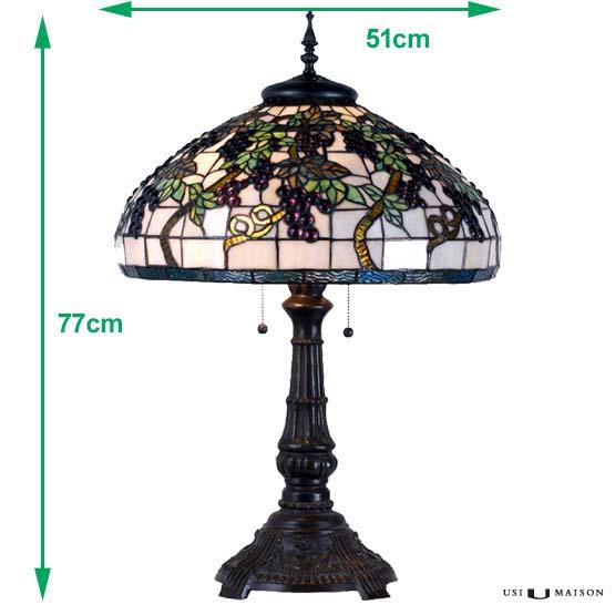 tiffany tischlampe saint emilion usi maison. Black Bedroom Furniture Sets. Home Design Ideas
