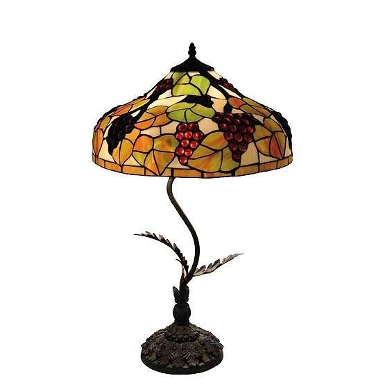 tiffany lamp burgundy