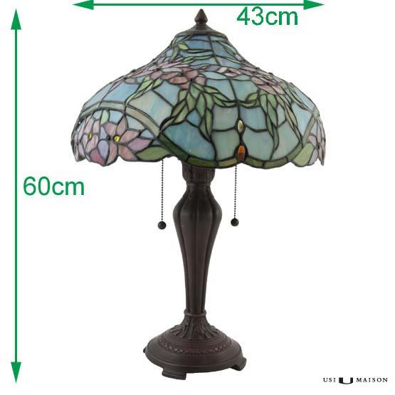tiffany tischlampe violet usi maison. Black Bedroom Furniture Sets. Home Design Ideas