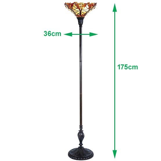 tiffany floor lamp carnelian sizes