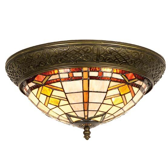 tiffany plafondlamp boston 1