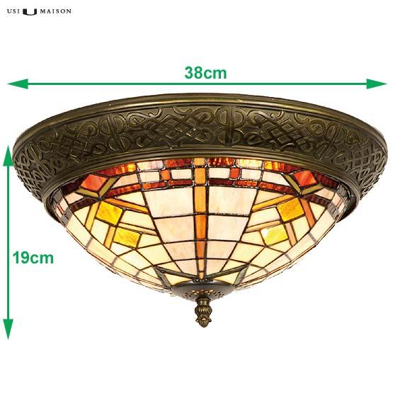tiffany plafondlamp boston 1 sizes