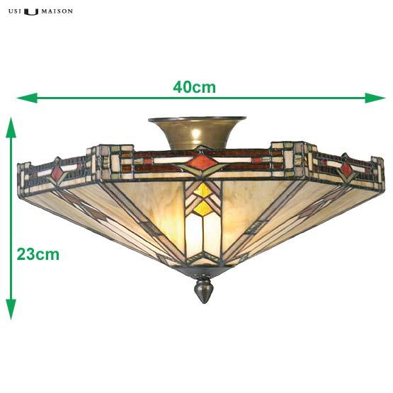 tiffany plafondlamp boston 2 sizes