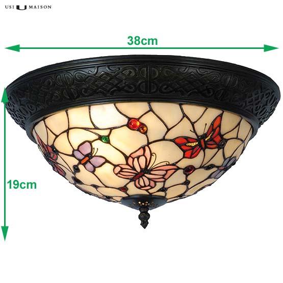 tiffany plafondlamp butterflies sizes