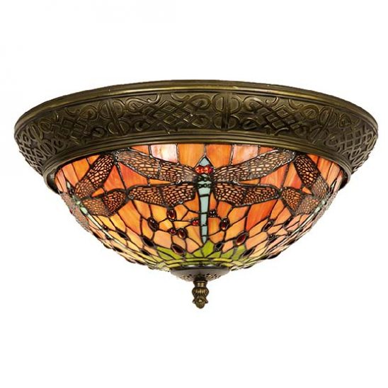 tiffany plafondlamp chicago dragonfly 1