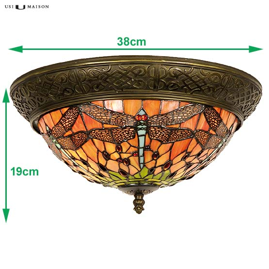 tiffany plafondlamp chicago dragonfly 1 sizes