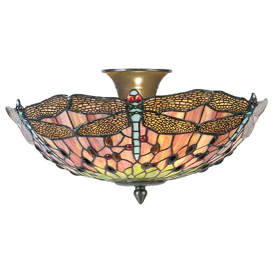Tiffany Ceiling Lamp Chicago Dragonfly 2