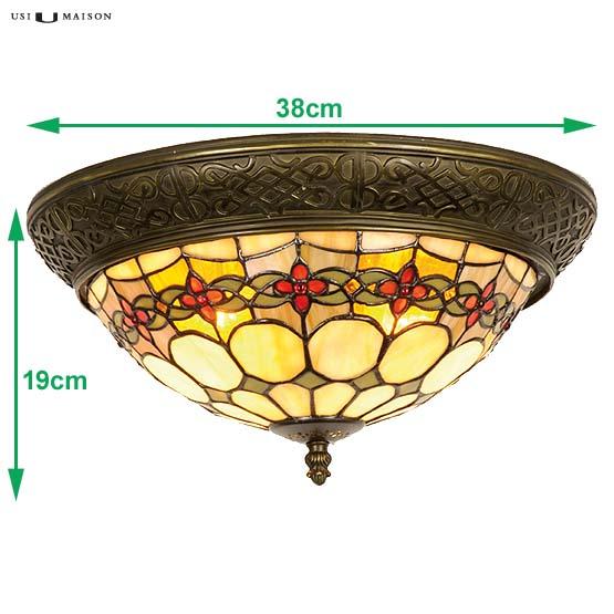 tiffany plafondlamp michigan 2 sizes