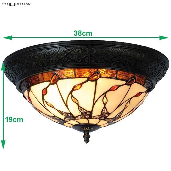 Tiffany ceiling lamp Panolis