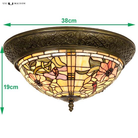 tiffany plafondlamp scranton 1 sizes