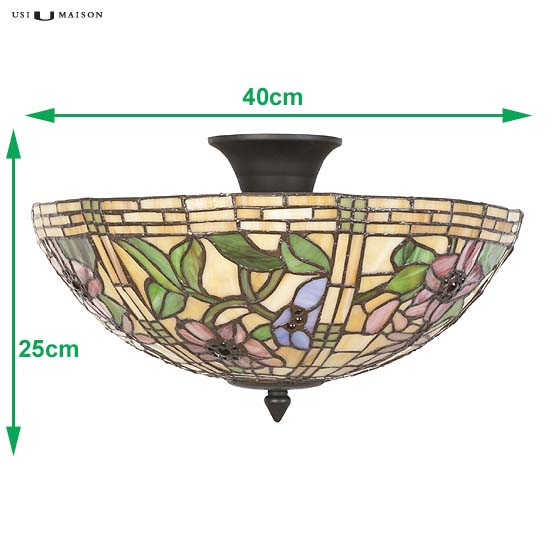 tiffany plafondlamp scranton 2 sizes