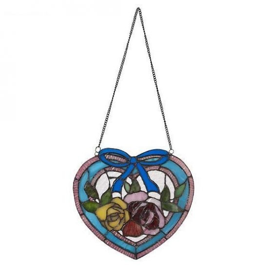 tiffany suncatcher heart blue