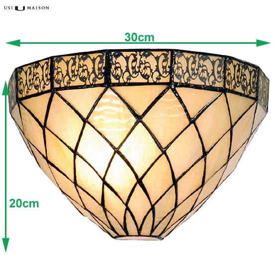 tiffany wall lamp rochelle sizes