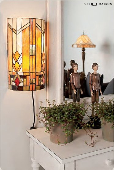 Tiffany wall lamp Boston 2 - Usi Maison