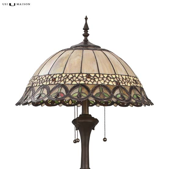 tiffany floor lamp nashua 1 shade