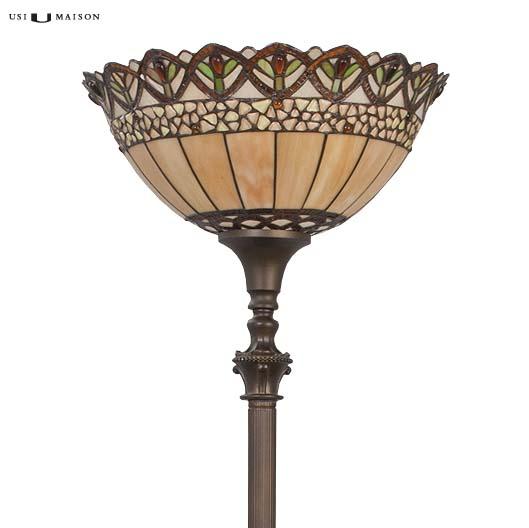 tiffany floor lamp nashua 2 shade