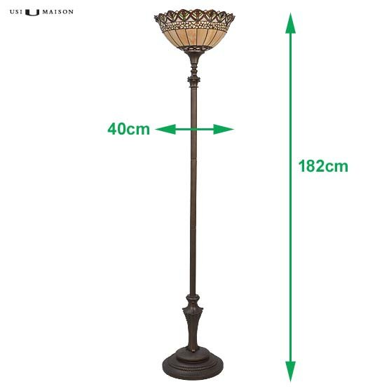 tiffany floor lamp nashua 2 sizes