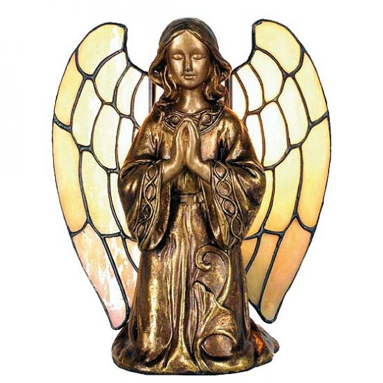 tiffany lamp golden angel
