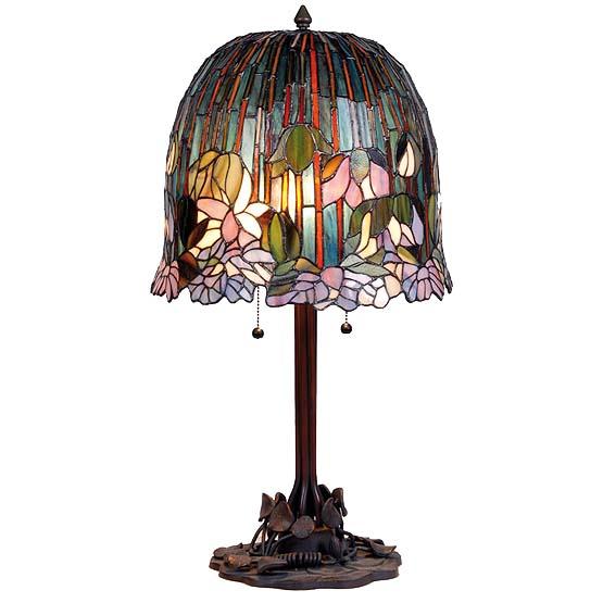 tiffany tischlampe lotus usi maison. Black Bedroom Furniture Sets. Home Design Ideas