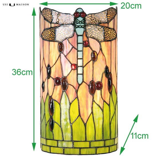 tiffany wall lamp chicago dragonfly 1 sizes