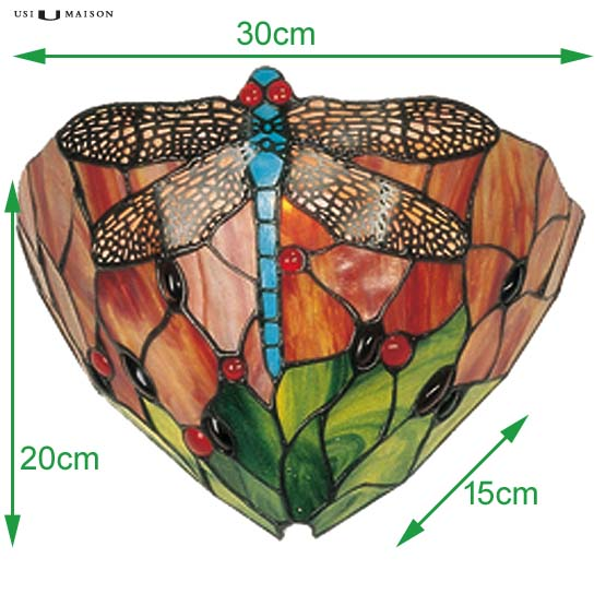 tiffany wall lamp chocago dragonfly 2 sizes