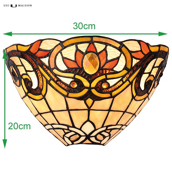 tiffany wall lamp flemington sizes