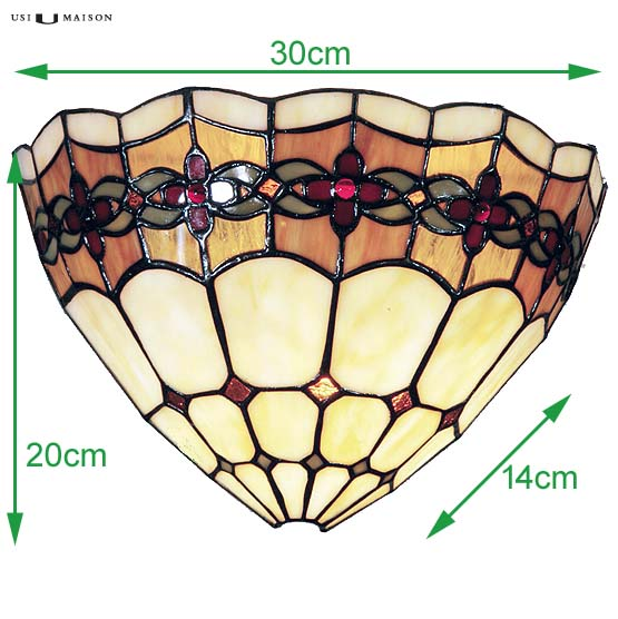 tiffany wall lamp michigan sizes