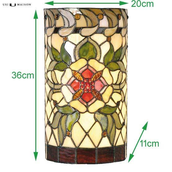 tiffany wall lamp salisbury 2 sizes