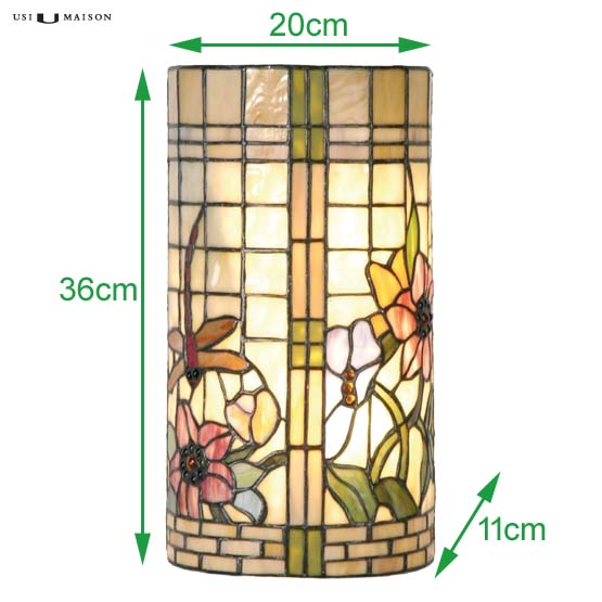 tiffany wall lamp scranton sizes