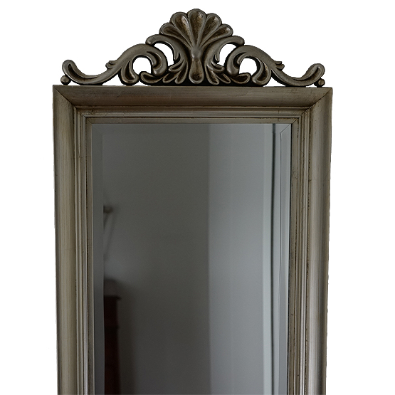crown crested mirror silver