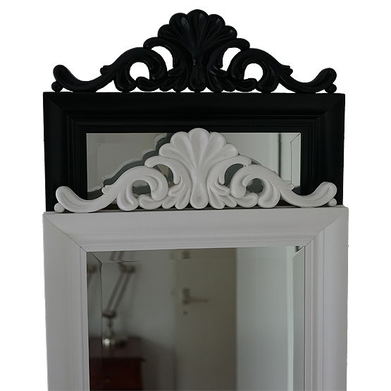 Classic Crested Mirror Crown Black & White