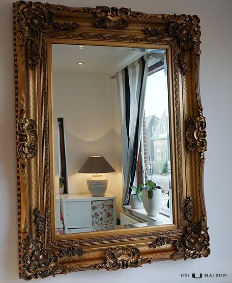 Prachtige Barok Spiegel   Bernini Goud   Direct leverbaar bij Usimaison