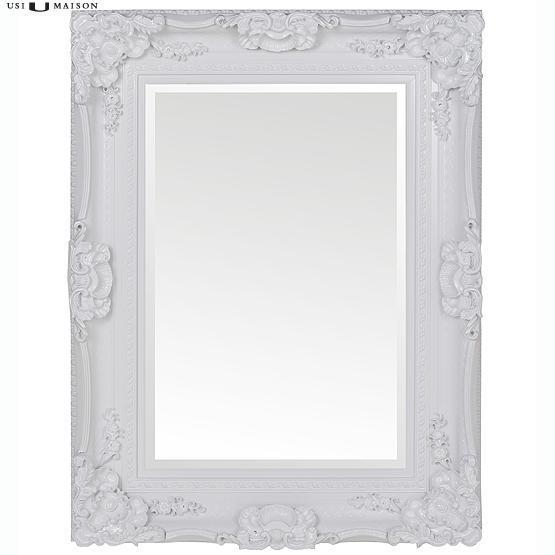 Prachtige barok spiegel bernini zwart en wit direct for Barok spiegel