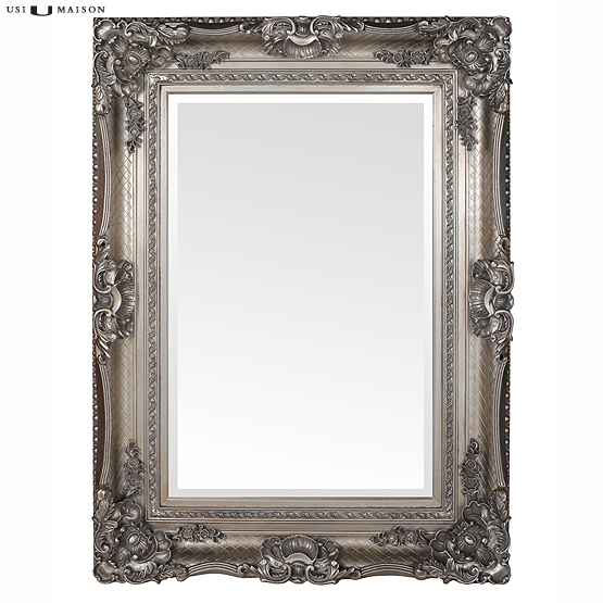Barok spiegel bernini zilver direct leverbaar bij usimaison - Barok spiegel voor badkamers ...