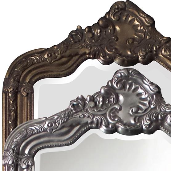 Miroir à crête Rocaille - argent