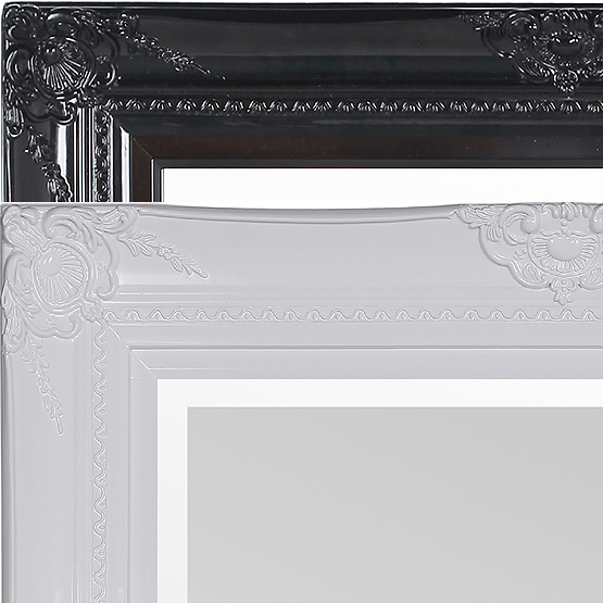 Klassieke spiegel Lanfranco - zwart & wit