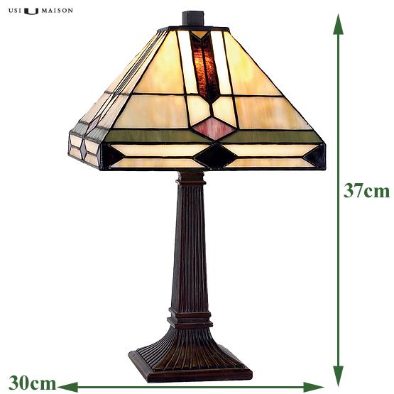 tiffany kleine tischlampe trenton usi maison. Black Bedroom Furniture Sets. Home Design Ideas
