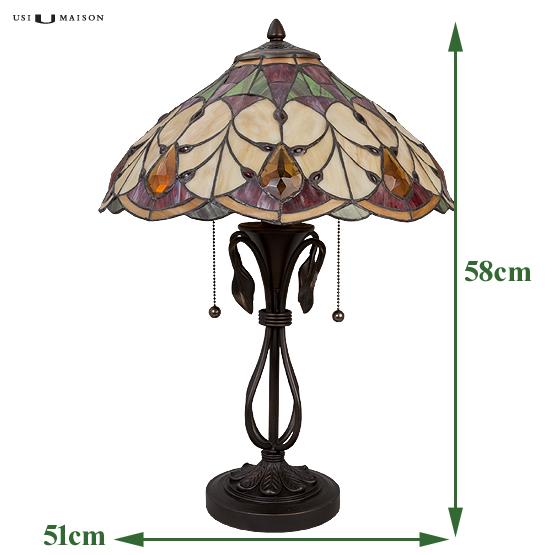 tiffany tischlampe cleveland usi maison. Black Bedroom Furniture Sets. Home Design Ideas