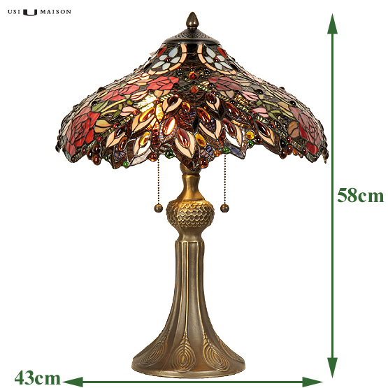tiffany tischlampe rosemont usi maison. Black Bedroom Furniture Sets. Home Design Ideas