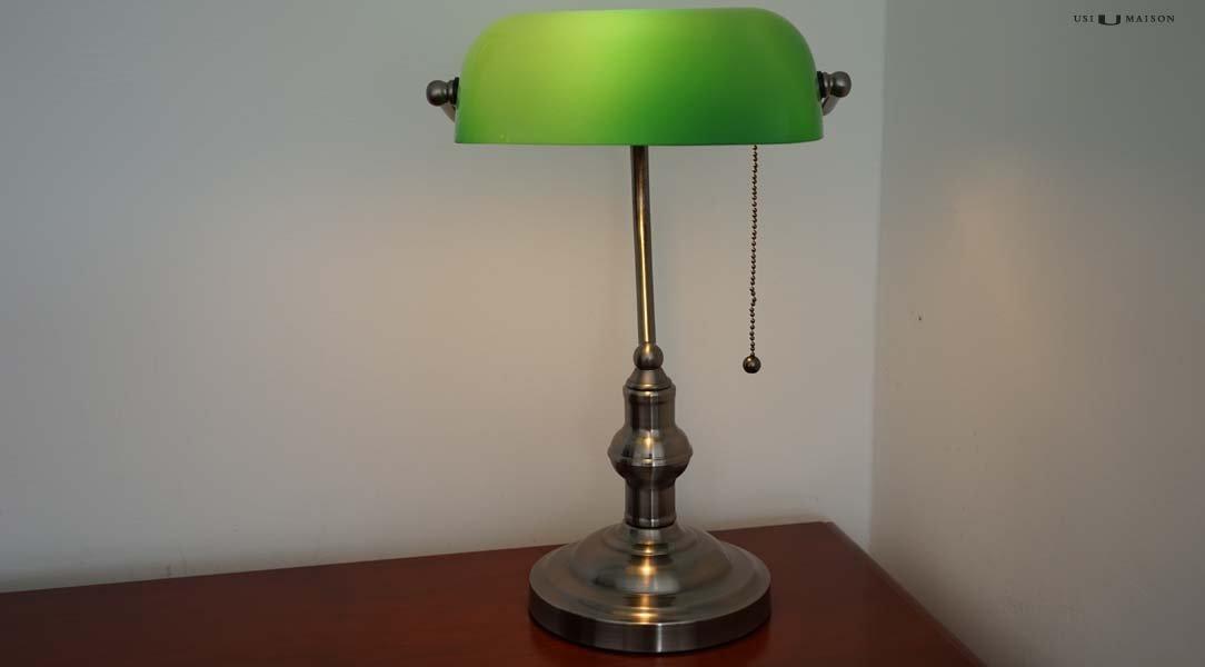 Tiffany Lampen Amsterdam : Banker lampe cambridge silber usi maison