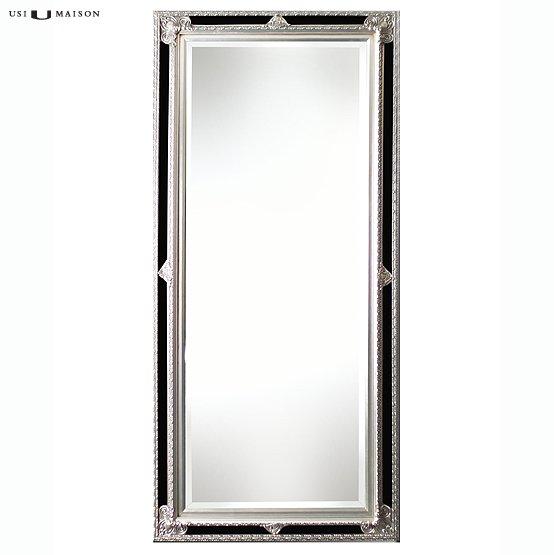 Barok spiegel faccini zilver zwart direct leverbaar for Barok spiegel