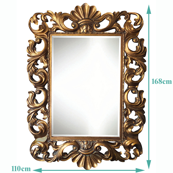 Baroque Gold Mirrors Baroque Mirror Fouquet u2013 Gold